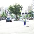 Photos: 竿燈大通り~車両上のDJポリス・・・人は少なく