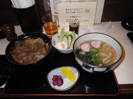 淡路牛丼とうどんセット