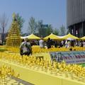 6千本の手作りによる風車@うめきた広場