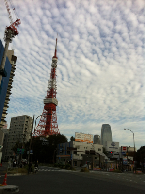 雲の海に浮かぶ東京タワー