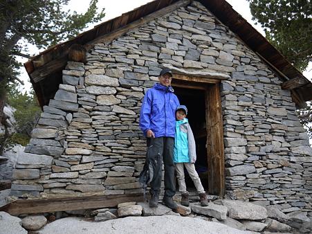 山頂直下のRanger Hut