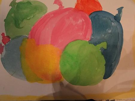 ムスメが描いた風船の絵