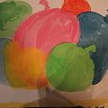 写真: ムスメが描いた風船の絵