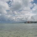 写真: ココス島のビーチから