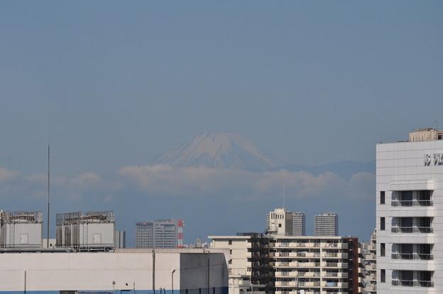 今朝の残雪の富士山
