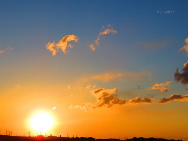 元気の出る朝焼け雲