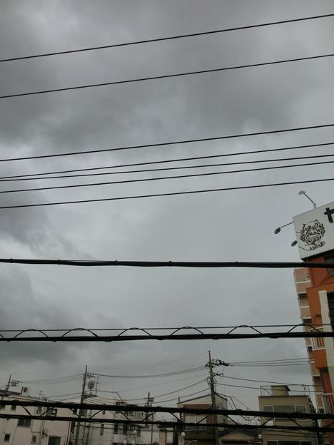 あっという間に雨雲に這い寄られた