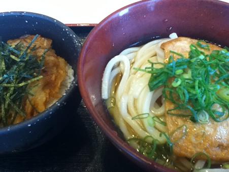 日替わり定食 冷うどん大 750円 本町製麺所